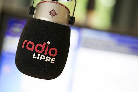 Mikrofon im Sendestudio